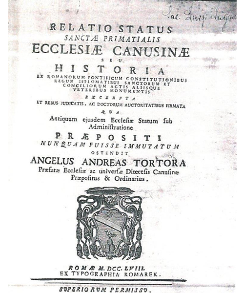 RelatioEcclesiae-Canusinae-Prevosto-Tortora