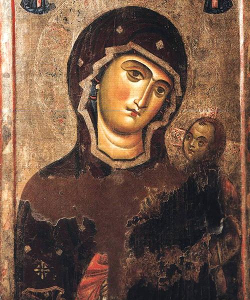 Icona-Lignea-del-XII°-secolo-di-Maria-SS.della-Fonte